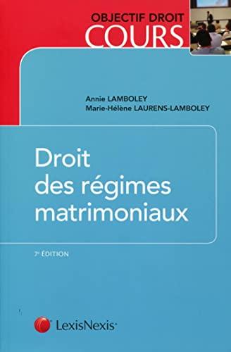 Droit Des Regimes Matrimoniaux: Lamboley/Lauren