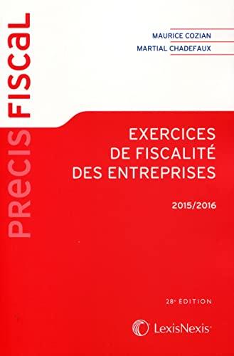 9782711023448: Exercices de fiscalit� des entreprises 2015-2016