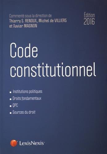 9782711023660: Code constitutionnel 2016