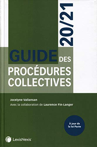 9782711033140: Guide des procédures collectives 20/21