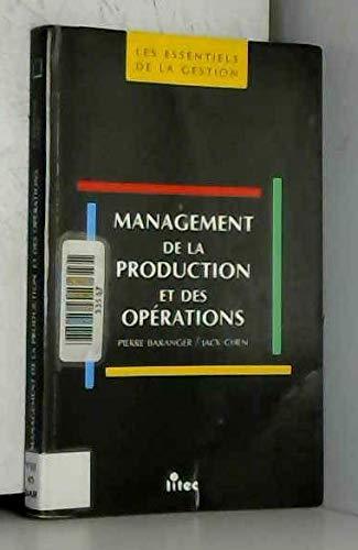 9782711124213: Management de la production et des opérations (ancienne édition)