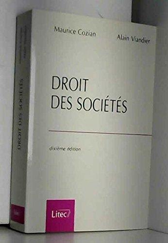 9782711128013: Droit des sociétés (ancienne édition)