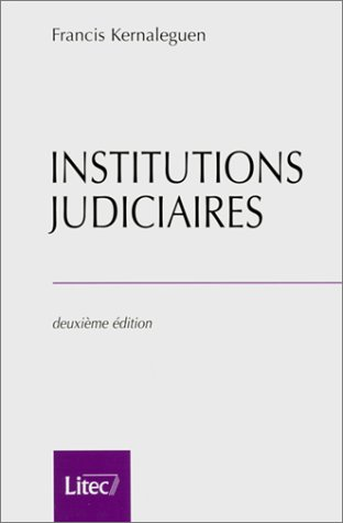 9782711130283: Institutions judiciaires (ancienne édition)