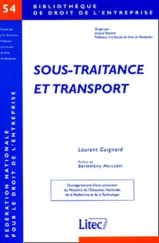 9782711133666: Sous-traitance et transport
