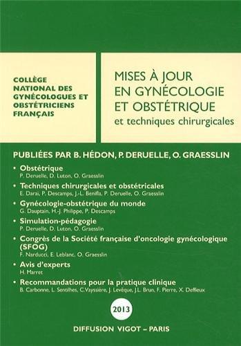 Maj en gynecoligie et obstetrique 2013: CNGOF