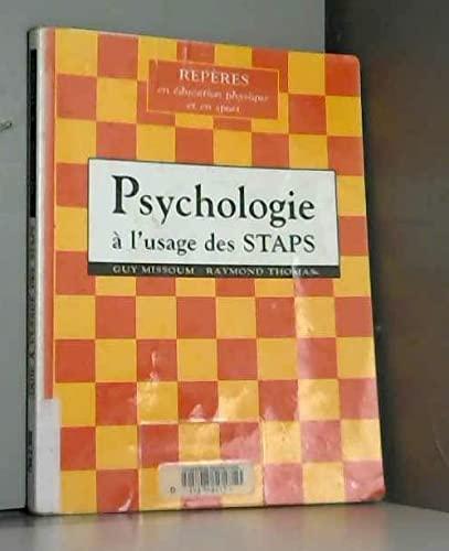 9782711413836: Psychologie, à l'usage des STAPS