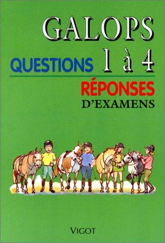 9782711414901: Galops 1 à 4. Questions /réponses d'examens