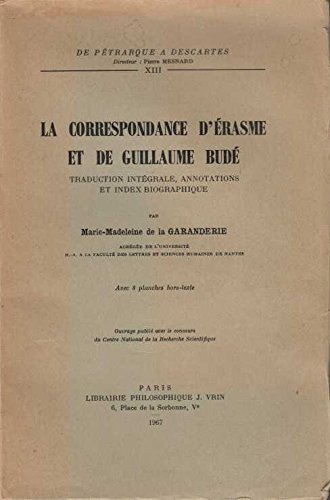 9782711602339: La corresponsdance d'Erasme et de Guillaume bud�
