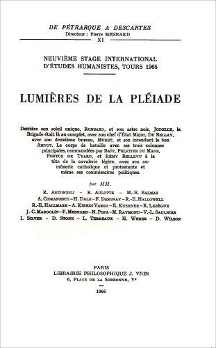 9782711605095: Lumi�res de la Pl�iade