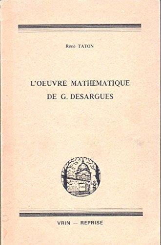 9782711606948: L'oeuvre mathematique de desargues