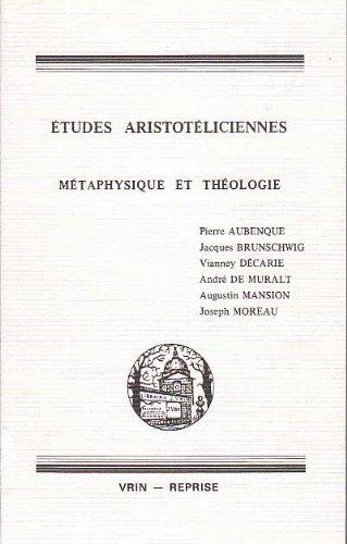 9782711608768: �tudes aristot�liciennes : M�taphysique et th�ologie (Vrin-reprise)