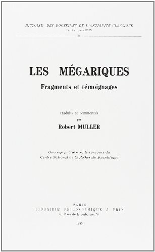 Megariques (Les) Fragments et temoignages: Muller, Robert