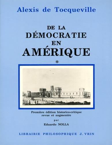 9782711610082: De la Democratie en Amerique (Bibliotheque des textes philosophiques) (French Edition)