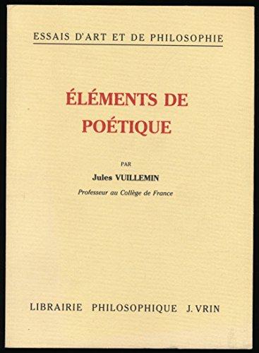 Elements De Poetique: Vuillemin, Jules