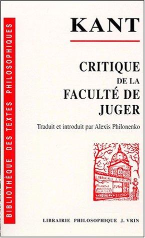 9782711611607: Critique De La Faculte De Juger (Bibliotheque Des Textes Philosophiques) (French Edition)