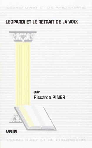 Leopardi et le retrait de la voix: Pineri, Riccardo