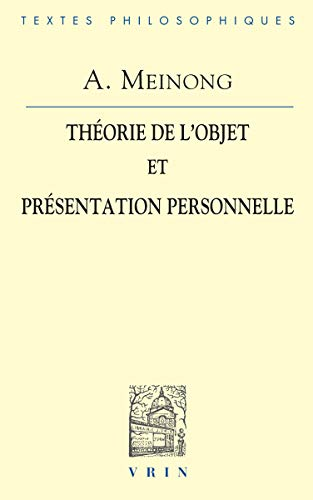 9782711614080: La théorie de l'objet et présentation personnelle