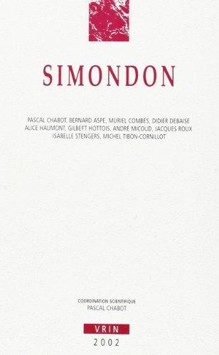9782711615384: Simondon (Annales de L'Institut de Philosophie de L'Universite de Brux) (French Edition)