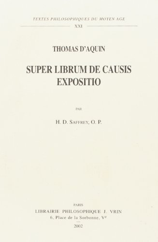 9782711615612: Super librium de causis expositio