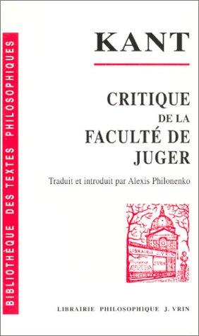 9782711620265: Critique de la faculte de juger