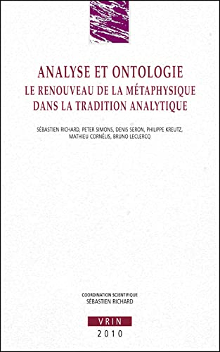 Analyse et ontologie. Le renouveau de la