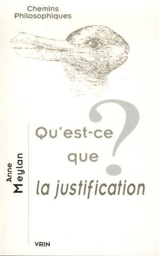 Qu'est ce que la justification: Meylan Anne