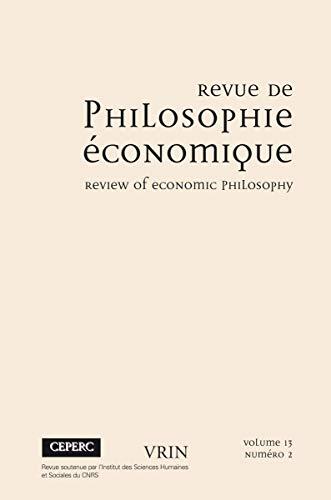 9782711652075: Revue de philosophie �conomique 13 (2012)/2 varia