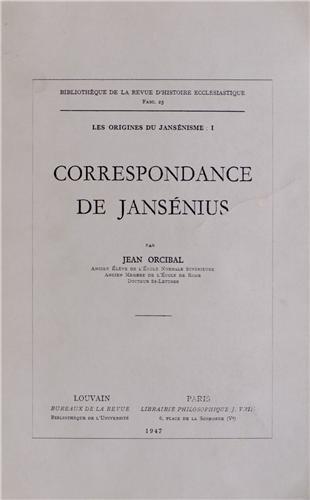 9782711681723: Les origines du jansénisme : Tome 1, Correspondance de Jansénius