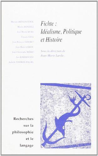 Recherches sur la philosophie et le langage Fichte 22: Collectif
