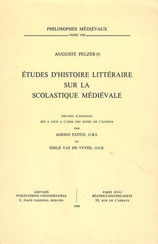9782711693740: Etudes d'histoire littéraire sur la scolastique médiévale