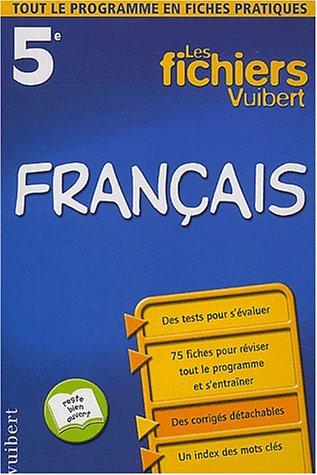 9782711737208: Les fichiers Vuibert : Français, 5e