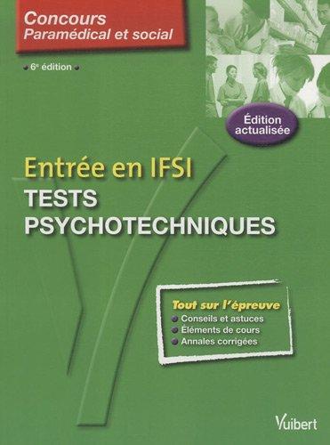 9782711738144: Tests psychotechniques : Entrée en IFSI