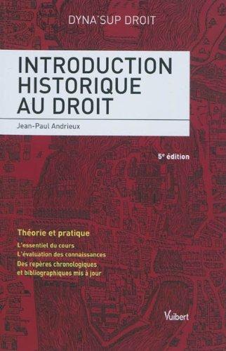 9782711765317: Introduction historique droit