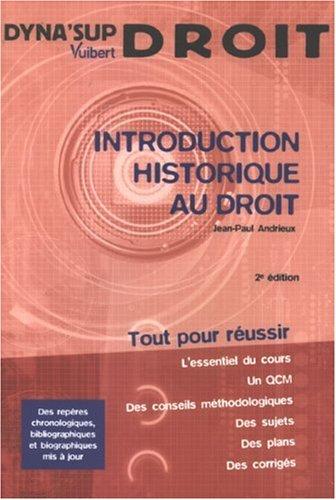 9782711774043: Introduction historique au droit