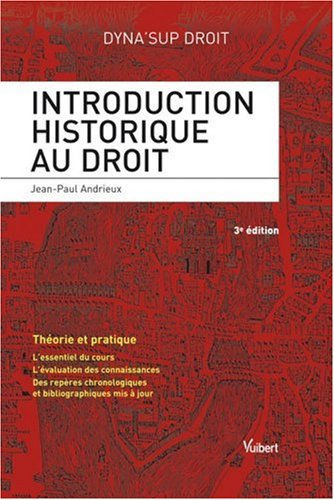 9782711775156: Introduction historique au droit