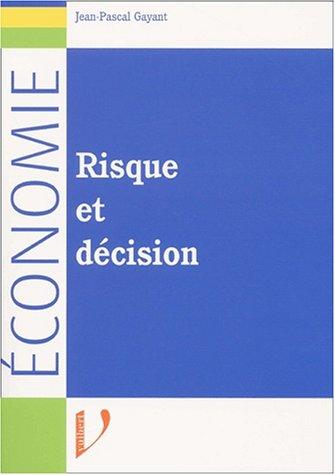 9782711775385: Risque et décision