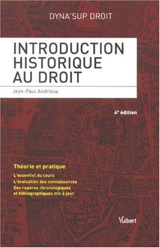 9782711777945: Introduction historique au droit