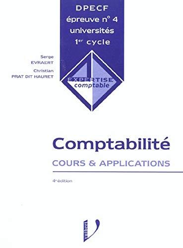 9782711779482: DPECF Epreuve N° 4 Comptabilité. Cours & applications, 4ème édition