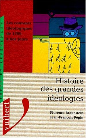 9782711784851: HISTOIRE DES GRANDES IDEOLOGIES. Les courants idéologiques de 1789 à nos jours