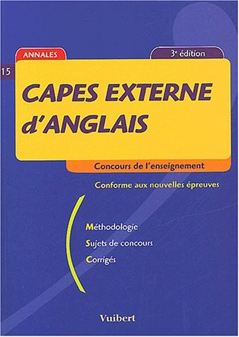 9782711785254: Capes externe d'anglais