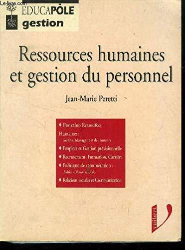 RESSOURCES HUMAINES ET GESTION PERSONNEL (Educapole gestion): Jean-Marie Peretti
