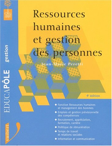 9782711795765: Ressources humaines et gestion des personnes : 4ème édition
