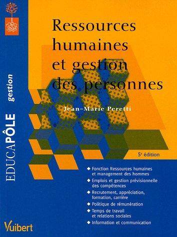 Ressources humaines et gestion des personnes: Jean-Marie Peretti