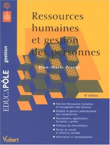 Ressources humaines et gestion des personnes (Educapole: Jean-Marie Peretti