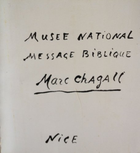 9782711800339: National Museum Message Biblique Marc Chagall (Musee National Message Biblique Marc Chagall)