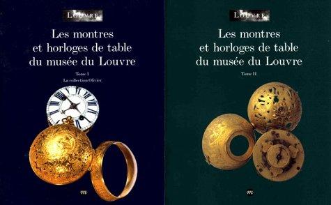 Coffret les montres et horloges de table du musee du louvre (French Edition)