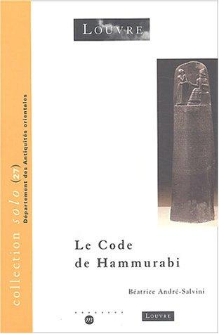 9782711847310: Le code de Hammurabi