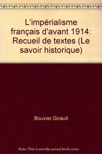 9782713200366: Imperialisme Français.