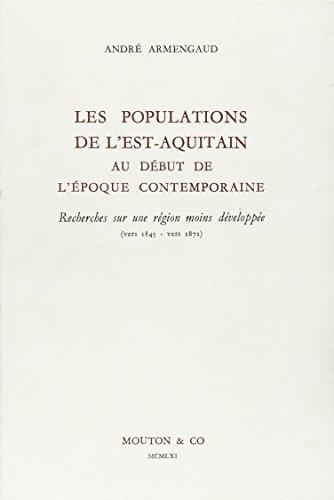 les population de l'est-aquitaine: André Armengaud