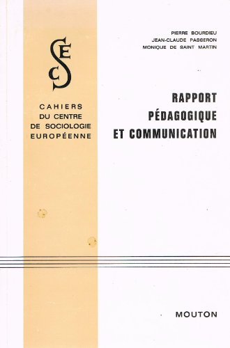 9782713201516: Rapport pedagogique et communication.